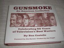 "GUNSMOKE AN AMERICAN INSTITUTION 8 3/4 X 11 1/8"" HARDBOUND 601 PGS AND PHOTOS"