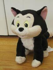 "DISNEY STORE FIGARO 7-9"" BLACK WHITE CAT SOFT CUDDLY TOY PINOCCHIO"