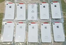 Apple iPhone 4 A1332 Back Battery Cover Glass Housing Replacement White 10 Peice