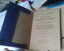 CUVILLIER. Résumé d'Histoire de France. La leçon de l'Elève. Delagrave. 1925.