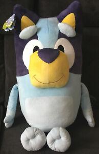 """Bluey And Friends MY SIZE JUMBO PLUSH 32"""" Huge Stuffed Animal Pillow Buddy 2021"""