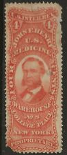 RS 116e- JOHN HENRY 4 CENT  MATCH AND MEDICINE STAMP--74