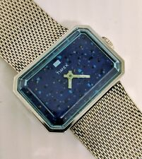 Unique Vintage TIMEX Watch Manual Wind Up with Rectangle Case and Speckled Dial