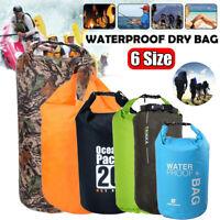 5L-75L Wasserfester Packsack Dry Bag Tasche Wasserdichte Trockentasche Surfen