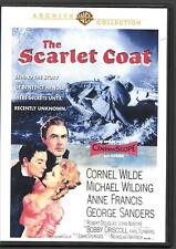 WB Archive Coll. THE SCARLET COAT (1955 Film), Cornel Wilde, M Wilding USED DVD