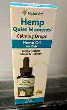 NaturVet Hemp Quiet Moments/Calming Drops Hemp oil Drops for Cats