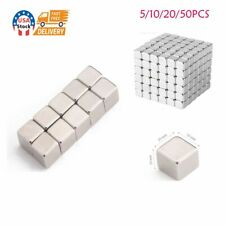 Us 5 50pack Neodymium N35 Block Square Cube Magnets Strong 10x10x10mm Rare Earth