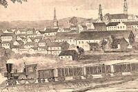 Petersburg Virginia civil war birds-eye view city scape 1862 historical print