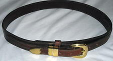 Ceintures Unique Brown Belt with Brass Accents Size 32 Ships Free in the USA