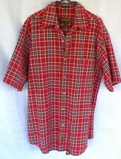 Timberland Weathergear Mens Shirt Size S Rugged Fit Textured Cotton Plaid