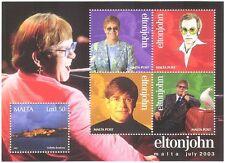Malta 2003 Elton John/Music/Birds/Dove/Buildings/Entertainment/People m/s s5022