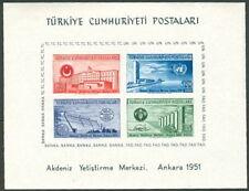 TURKEY #1054a Souvenir sheet, og, NH, VF, Scott $95.00