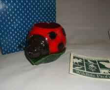 Ranger Gift Ladybug Pen Holder Desktop Insect on Leaf Wildlife Fed Nib Retired