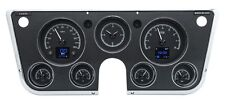1967 -72 Chevy Truck C10 Dakota Digital Black Alloy HDX Customizable Gauge Kit