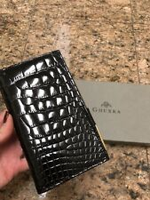 Ghurka Glossy Black Genuine Alligator Agenda