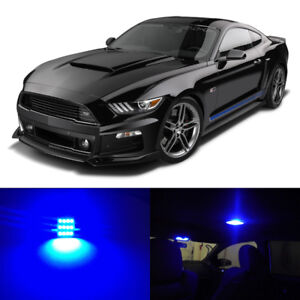 8 x Blue LED Interior Lights Package for 2015 2016 2017 2018 2019 Ford Mustang