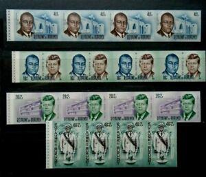 IMPERF 4 SETS KENNEDY BURUNDI VF MNH B104.32 START 0.99$