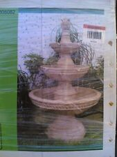 Nib: Awesome Huge Outdoor Landscaping 3-Tier Twist-Rope Accent Water Fountain