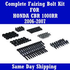Complete Black Fairing Bolt Kit Body Screw for HONDA 2006 2007 CBR 1000RR