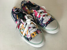 NEW! SKECHERS BOBS UTOPIA TURFS DENIM FLORAL CANVAS SHOES SNEAKERS 6 38 SALE