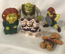 Shrek Three Little Pigs Fiona Toy Figures Dreamworks Animation Lot McDonald's