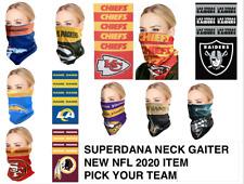 Nfl Bandana Superdana Neck Gaiter Face Guard Mask Facemask Scarf Pick Your Team