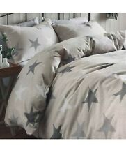 NEXT 💯% Brushed cotton Blush Pink & Grey Stars Single Duvet Bedset Kids Bedding