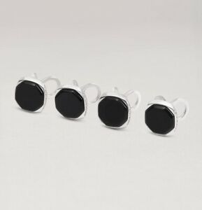 Dunhill Black Onyx & Diamond Stud Set