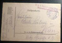 1918 Bileca Bosnia Herzegovina KUK PO  Postcard Cover To Vienna Austria