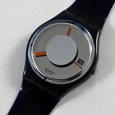 swatch rare gent  flash out gm412 orologio vintage raro uomo donna blu nuovo