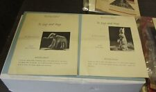 1930's To Lug and Hug Mary Sieburth Stuffed Animal Designs Eddie Elephant Bunny