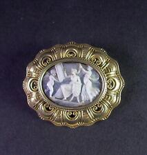 tolle Brosche Kamee - 800er Silber vergoldet