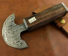 Handmade Damascus Steel Saddlers Leather Cutting -Half Moon-Workers Tool-LC4