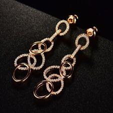 Gorgeous Women Sapphire Crystal Women Engagement Chandelier Dangle Earrings