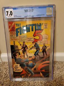 THE FIGHTIN' FIVE #40, CGC FN/VF 7.0, 1st Peacemaker! Charlton (1966)