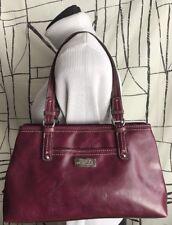 Nine & Co Purple Faux Leather Shoulder Handbag