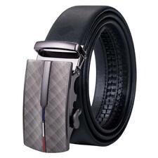 Formal Mens Automatic Buckles Belts Black Ratchet Waistband Straps Business