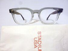 Vintage American Optical Hybrid Stadium Grey 44/20 Men's Plastic Eyeglass Frame