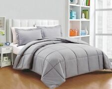 All Season Down Alternative Comforter Silver Gray Solid Select Your Size