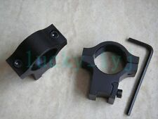 2x Mount 25mm Scope/Flashlight/Laser Ring Tube Mount 11mm Rail #25D2