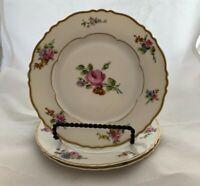 "Haviland Limoges (France) Chantilly Pattern Bread Plates, 6 1/2"", Set of 3"