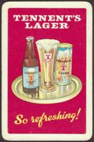 2 Single VINTAGE Swap//Playing Cards ADV ANSELL BEER MEN DIMPLE GLASSES Brewery