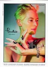 Tilda Swinton 1-pg clipping May 2014 ad for Pomellato jewelry