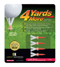 Greenkeepers 4 Yards More golf tees - pack of 4 - red - 1 3/4 inches - 45mm