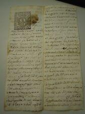 """DOC. DEL 1700 SU CARTA BOLLATA DA """" DUE SOLDI 1741 """" VILLANOVA D'ALBENGA  6-220"""