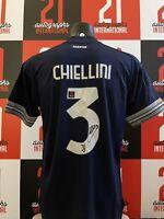 Maglia Juventus Away Chiellini Autografata con video prova