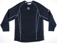 New York Yankees Majestic Authentic Navy Blue Sewn MLB Baseball Pullover M