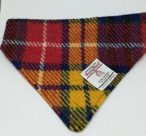 Harris Tweed dog collar bandanas neckerchiefs VARIOUS COLOURS - FREE POSTAGE