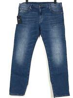 EMPORIO ARMANI J45 Herren Jeans Hose stretch Slim Fit Übergröße W40 L32 Blau Neu