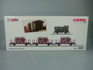 Märklin 48829 MHI Güterwagen-Set Epoche II mit Schlussbeleuchtung / Neu & OVP